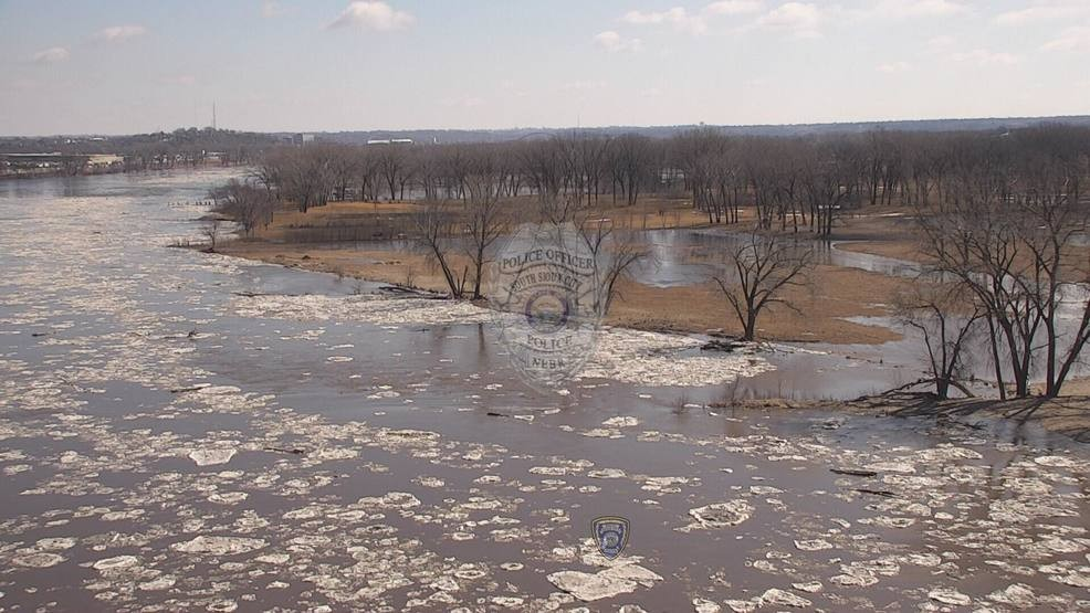 BIRD'S EYE VIEW: South Sioux City Missouri River flooding | KMEG